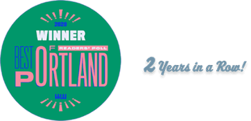 Best in Portland 2 years in a row!